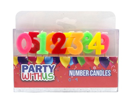 CANDLES PWU NUMBER SET 0 TO 9