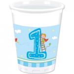 BOY FIRST BDAY PLASTIC CUPS 200ML