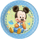 BABY MICKEY PAPER PLATES LARGE 23CM