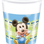 BABY MICKEY PLASTIC CUPS 200ML