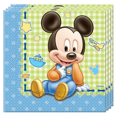 BABY MICKEY TWO PLY PAPER NAPKINS 33X33CM