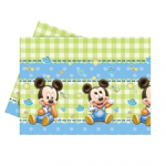 BABY MICKEY PLASTIC TABLECOVER 120X180CM