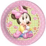 BABY MINNIE PAPER PLATES LARGE 23CM