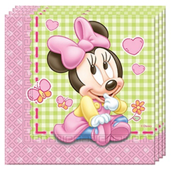 BABY MINNIE TWO PLY PAPER NAPKINS 33X33CM