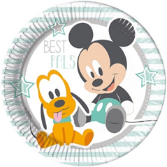 MICKEY INFANT PAPER PLATES LARGE 23CM