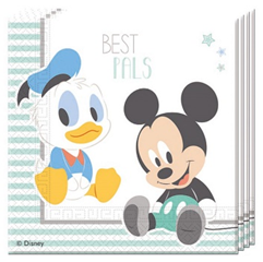 MICKEY INFANT TWO PLY PAPER NAPKINS 33X33CM