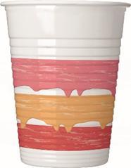 BIRTHDAY CAKE PLASTIC CUPS 200 ML