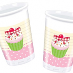 DELICIOUS CUPCAKE PLASTIC CUPS 200ML 10CT