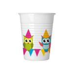 MY BEST FRIEND OWL PLASTIC CUPS 200ML