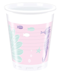 PARTY UNDER THE SEA PLASTIC CUPS 200ML