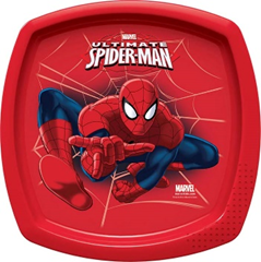 SPIDER-MAN GO SQUARE SHAPED PLATE(RED)