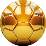 FOOTBALL GOLD PAPER PLATES LARGE 23CM