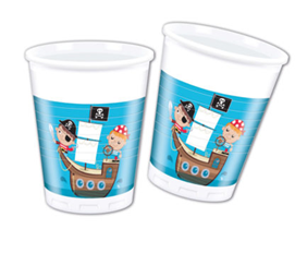 PIRATE TREASRE HUNT PLASTIC CUPS 200ML