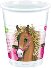 HORSES PLASTIC CUPS 200ML