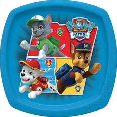TOY STORY TEAM TOYS SQUARE SHAPED PLATE(RED)