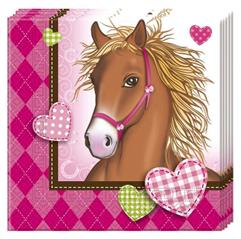 HORSES TWO PLY PAPER NAPKINS 33X33CM