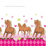 HORSES PLASTIC TABLECOVER 120X180CM 1CT