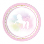 BELIEVE IN UNICORN PAPER PLATES LARGE