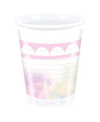 BELIEVE IN UNICORN PLASTIC CUPS 200ML