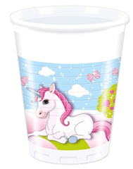 UNICORN PLASTIC CUPS 200ML