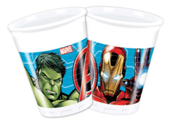 MIGHTY AVENGERS PLASTIC CUPS 200ML
