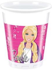 BARBIE SPARKLE PLASTIC CUPS 200ML