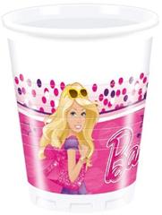BARBIE MAGIC PLASTIC CUPS 200ML