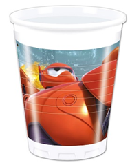 BIG HERO 6 PLASTIC CUPS 200ML