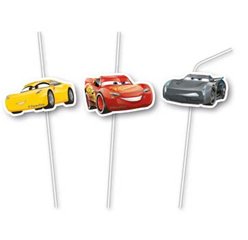 CARS 3 MEDAL FLEXI DRINKNG STRAW 6CT