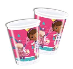 DOC MCSTUFFINS 2ND PLASTIC CUPS 200ML 8CT