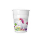 FLUFFY PLASTIC CUPS 200 ML 8CT