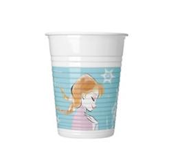 FROZEN SPARKLE PLASTIC CUPS 200ML