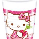 HELLO KITTY HEARTS PLASTIC CUPS 200ML
