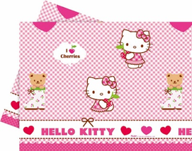 HELLO KITTY HEARTS PLASTIC TCOVER 120X180CM