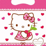 HELLO KITTY HEARTS PARTY BAG