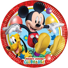 PLAYFUL MICKEY PAPER PLATES LARGE 23CM