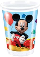 PLAYFUL MICKEY PLASTIC CUPS 200ML