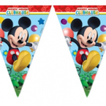 PLAYFUL MICKEY TRIANGLE FLAG BANNER