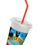 MICKEY MILKSHAKE CUP+LIDS+STRAW