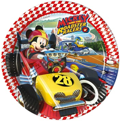MICKEY ROADSTER RACERS PAPER PLATES LARGE 23CM