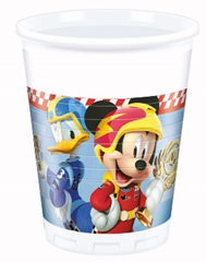 MICKEY ROADSTER RACERS PLASTIC CUPS 200ML 8CT