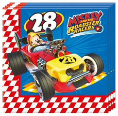 MICKEY ROADSTER RACERS 2 PLY NAPKINS 33X33CM