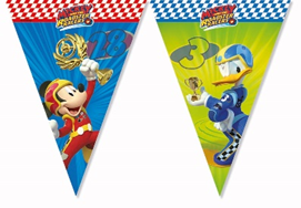 MICKEY ROADSTER RACERS TRIANGLE FLAG BANNER