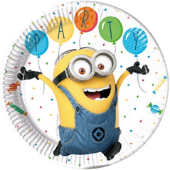 MINIONS BALLOON PARTY PAPER PLATES LARGE 23CM
