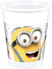 MINIONS BALLOON PARTY PLASTIC CUPS 200ML