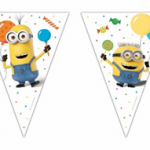 MINIONS BALLOON PARTY TRIANGLE FLAG BANNER