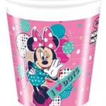MINNIE DOTS PLASTIC CUPS 200ML A