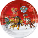 PAW PATROL RDY FR ACTION PAPER PLATE LRG 23CM