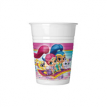 SHIMMER & SHINE GLITER FRIENDS PLSTIC CUPS 200ML