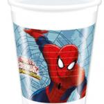 ULTIMATE SPIDERMAN WEB WARS PLASTIC CUPS 200ML
